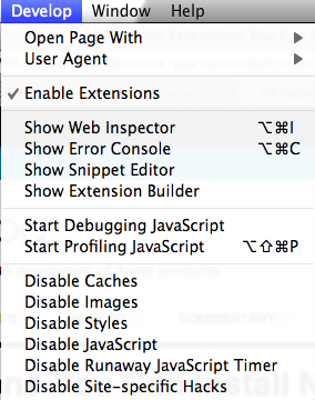 Enable Extensions