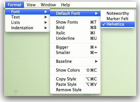 Notes Default Font